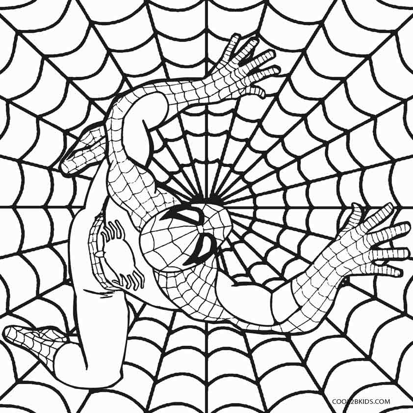 842x841 Printable Spiderman Coloring Pages For Kids Comic