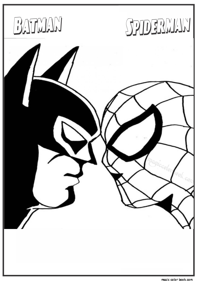 680x967 Batman And Spiderman Coloring Pages Spiderman And Batman Coloring