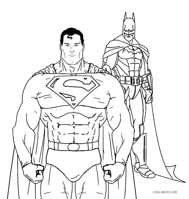 636x670 Printable Batman Coloring Pages Batman Coloring Pages Superman
