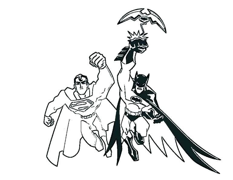 770x595 Printable Superman Coloring Pages Superman Color Pages Good Batman