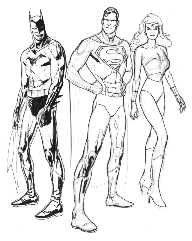 Getdrawings Com Colorings Batman And Superman Colo
