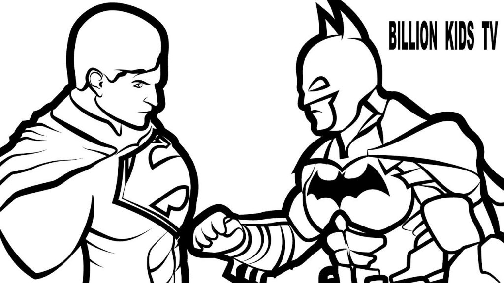 1024x576 Superman Coloring Pages Print
