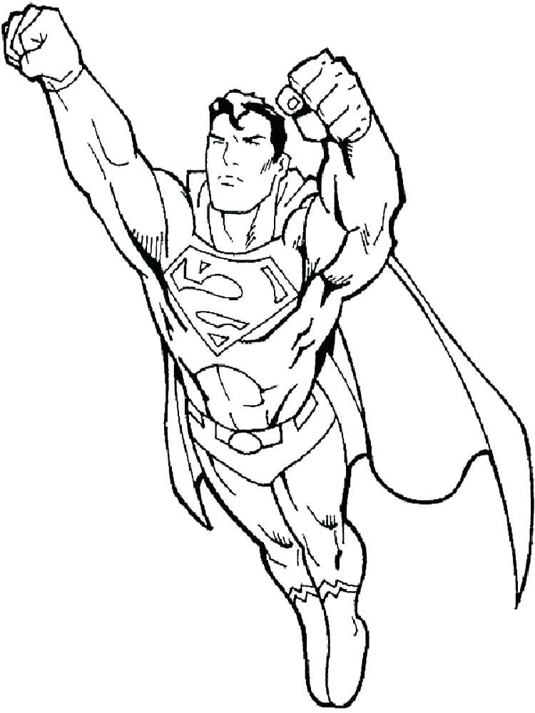 750x1000 Superman En Color Superman Color Page Superman Coloring Page