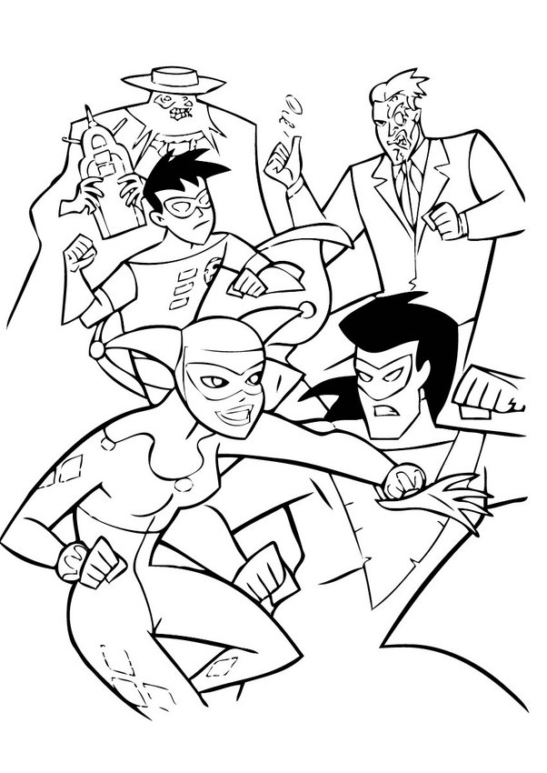 602x850 Batman, Spiderman And Superman Coloring Pages
