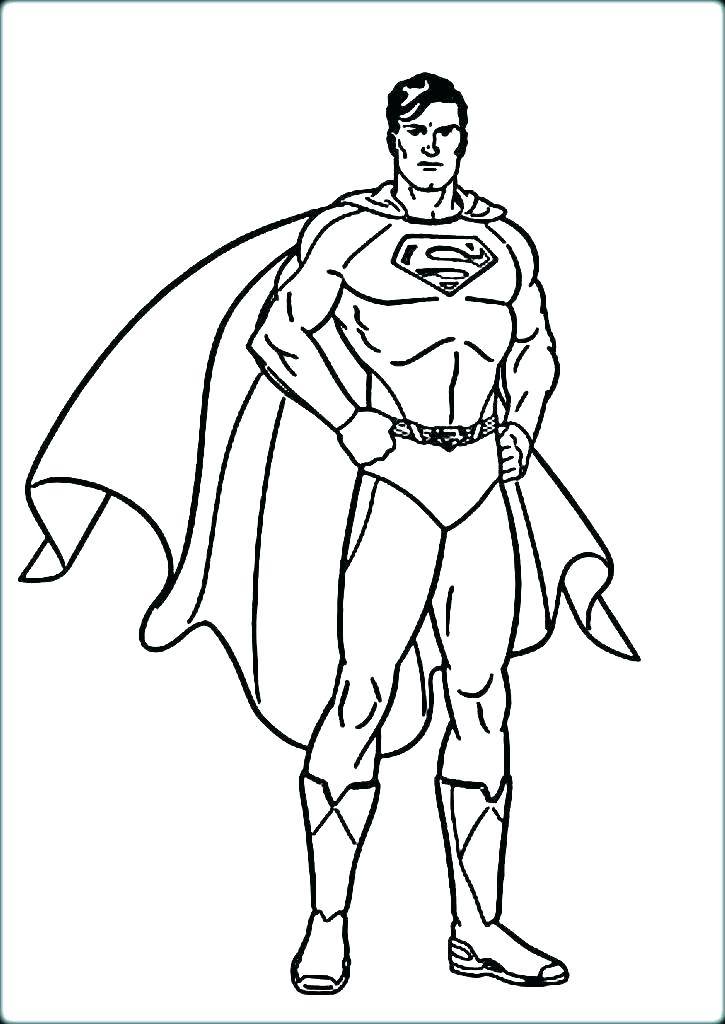 725x1024 Superman Printable Coloring Pages Superman Coloring Pages Superman