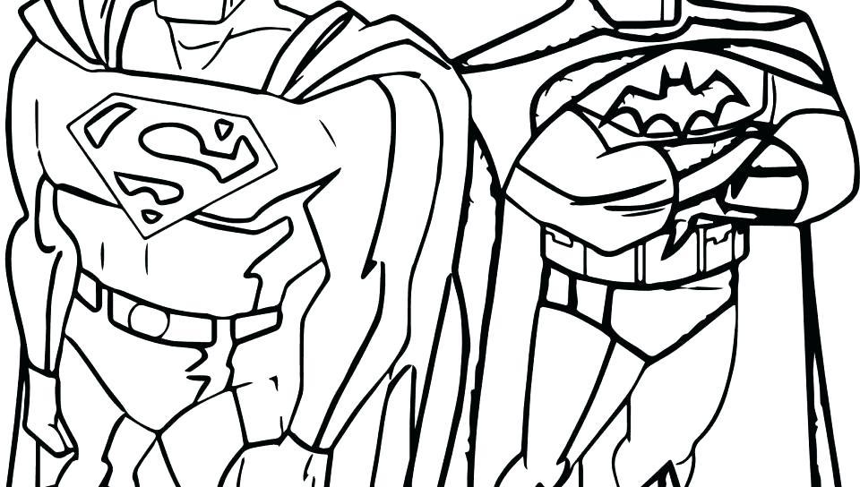 960x544 Batman Vs Superman Logo Coloring Pages