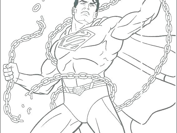 567x425 Coloring Page Superman