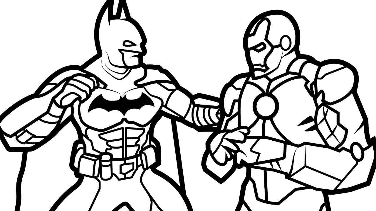 1280x720 Batman Vs Superman Coloring Pages