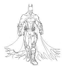 230x230 Batman Arkham Knight Sketches Drawings Batman Coloring Pages