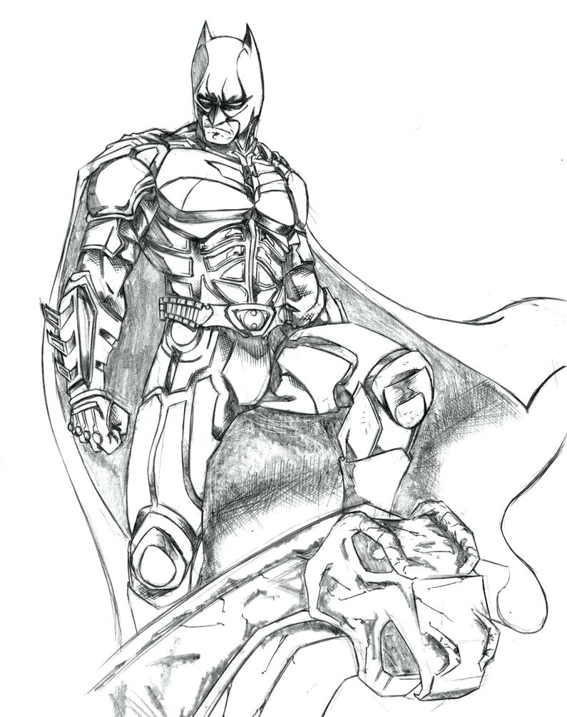 795x1005 Attractive Batman Arkham City Coloring Pages Model