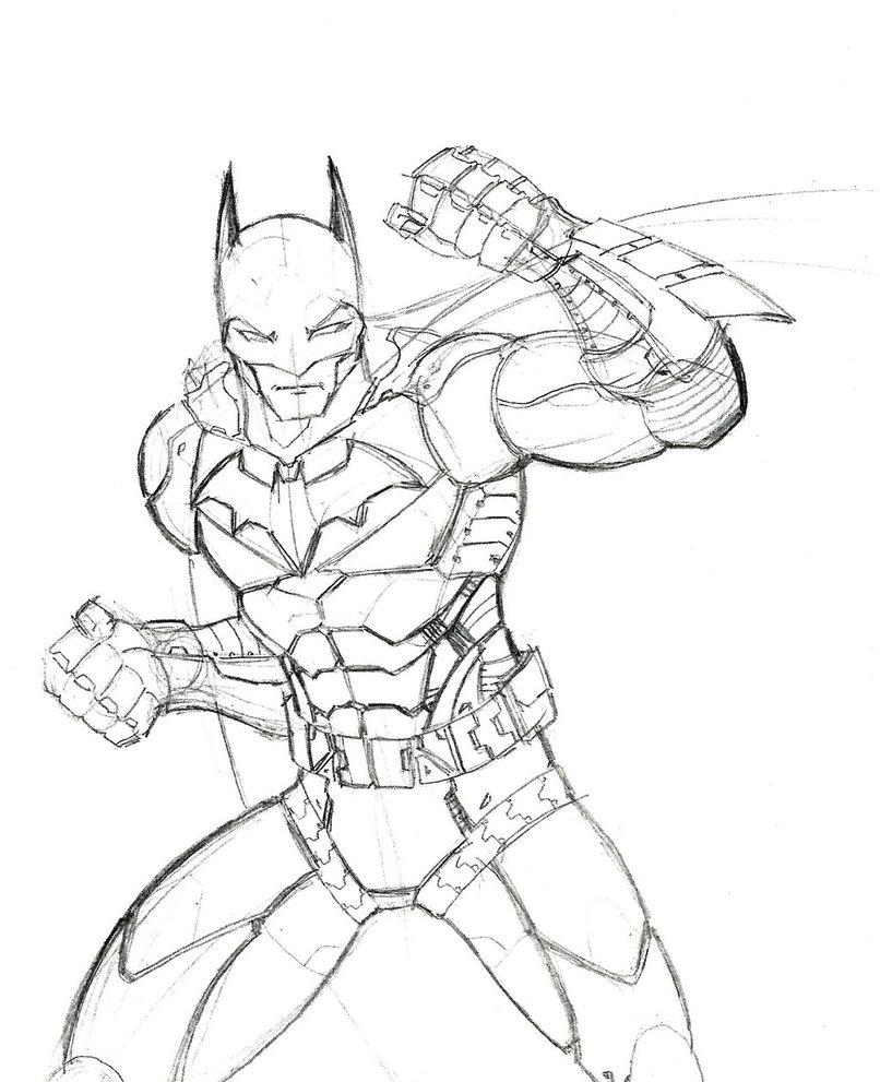 806x991 Instructive Batman Arkham Knight Coloring Page