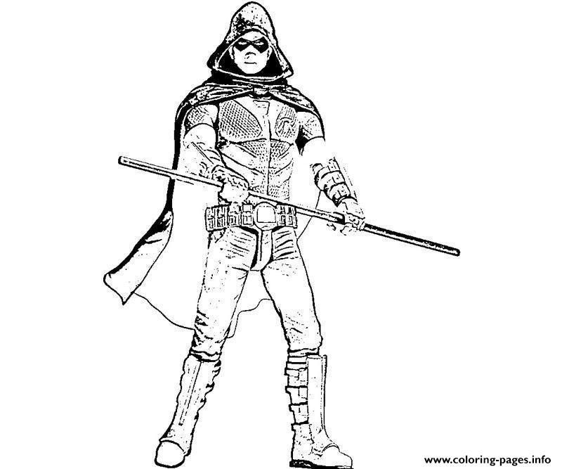 800x667 Robin Arkham City Coloring Pages Printable