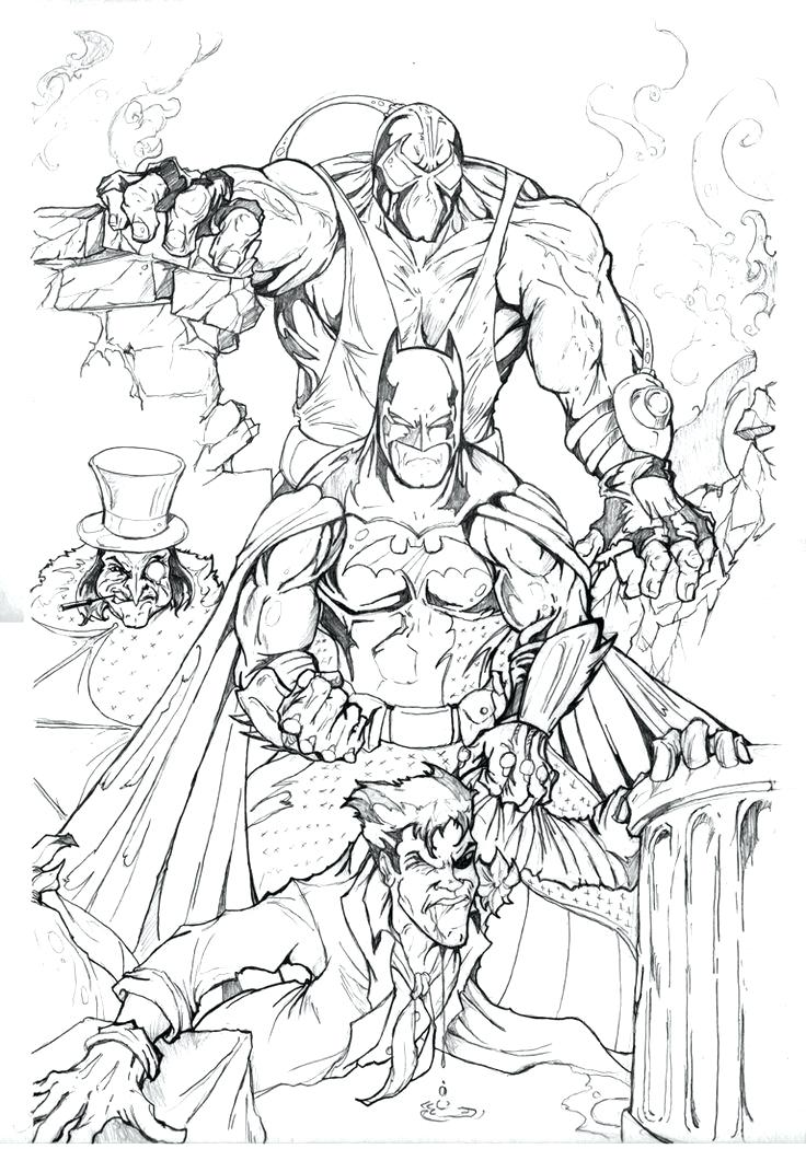 736x1050 Best Batman Coloring Pages Images On Tattoo Design Drawings Joker