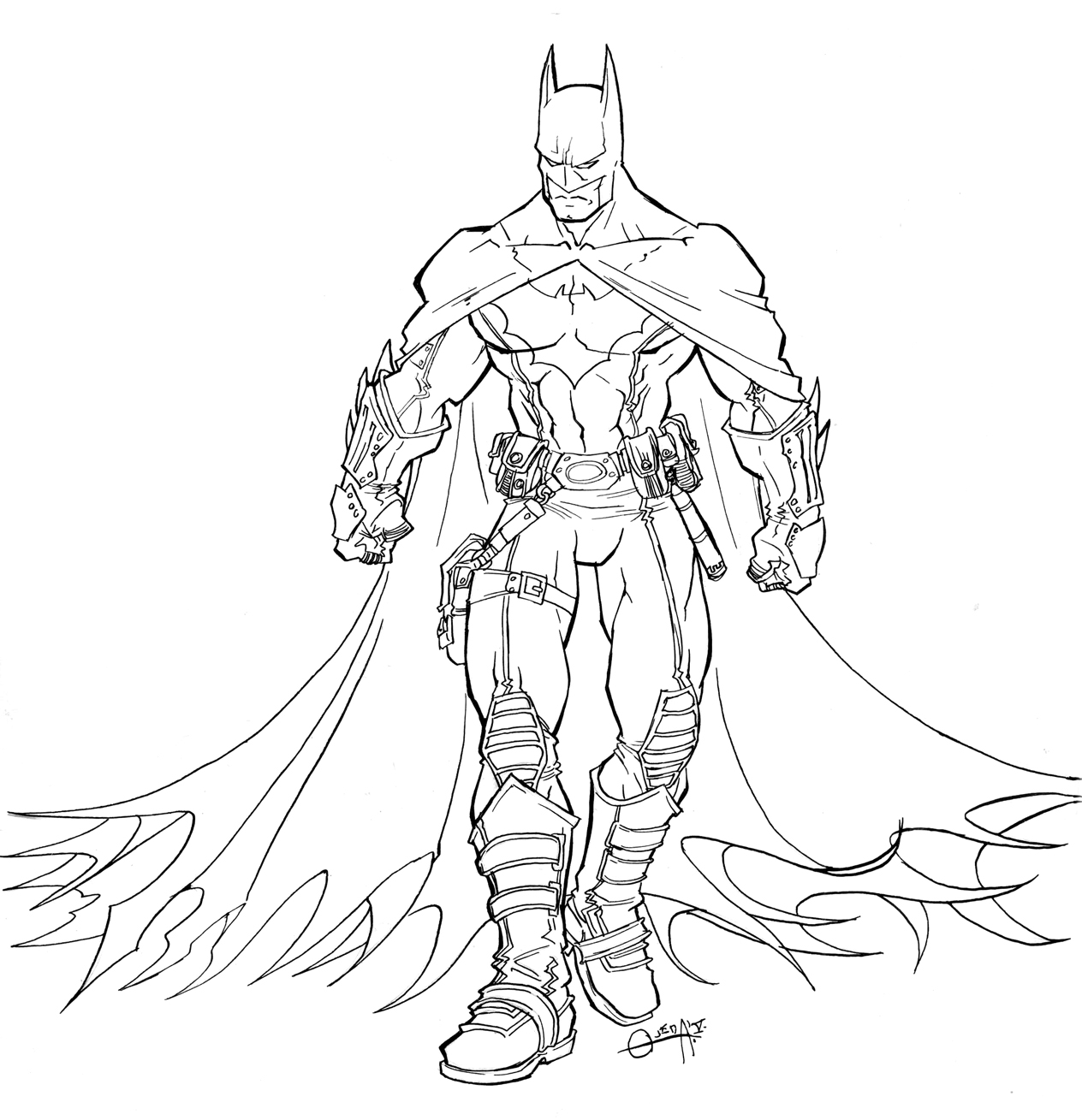 1264x1309 Free Printable Batman Coloring Pages For Kids Superheroes