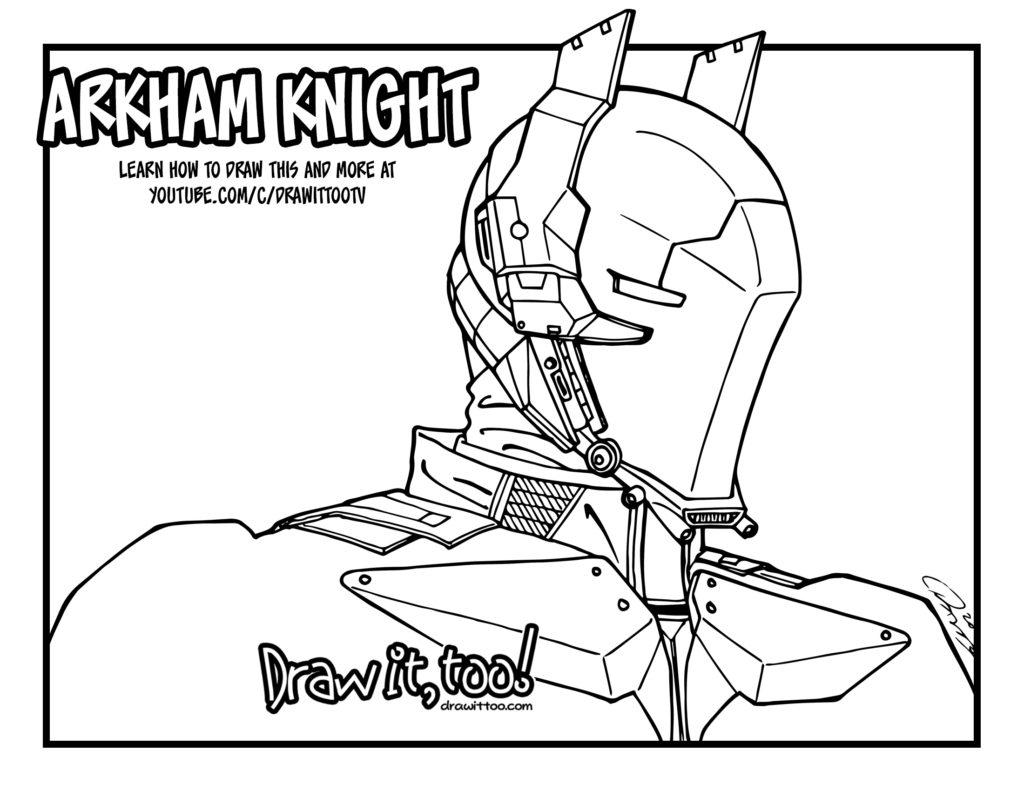 1024x791 Unique Batman Arkham Knight Coloring Pages Fre