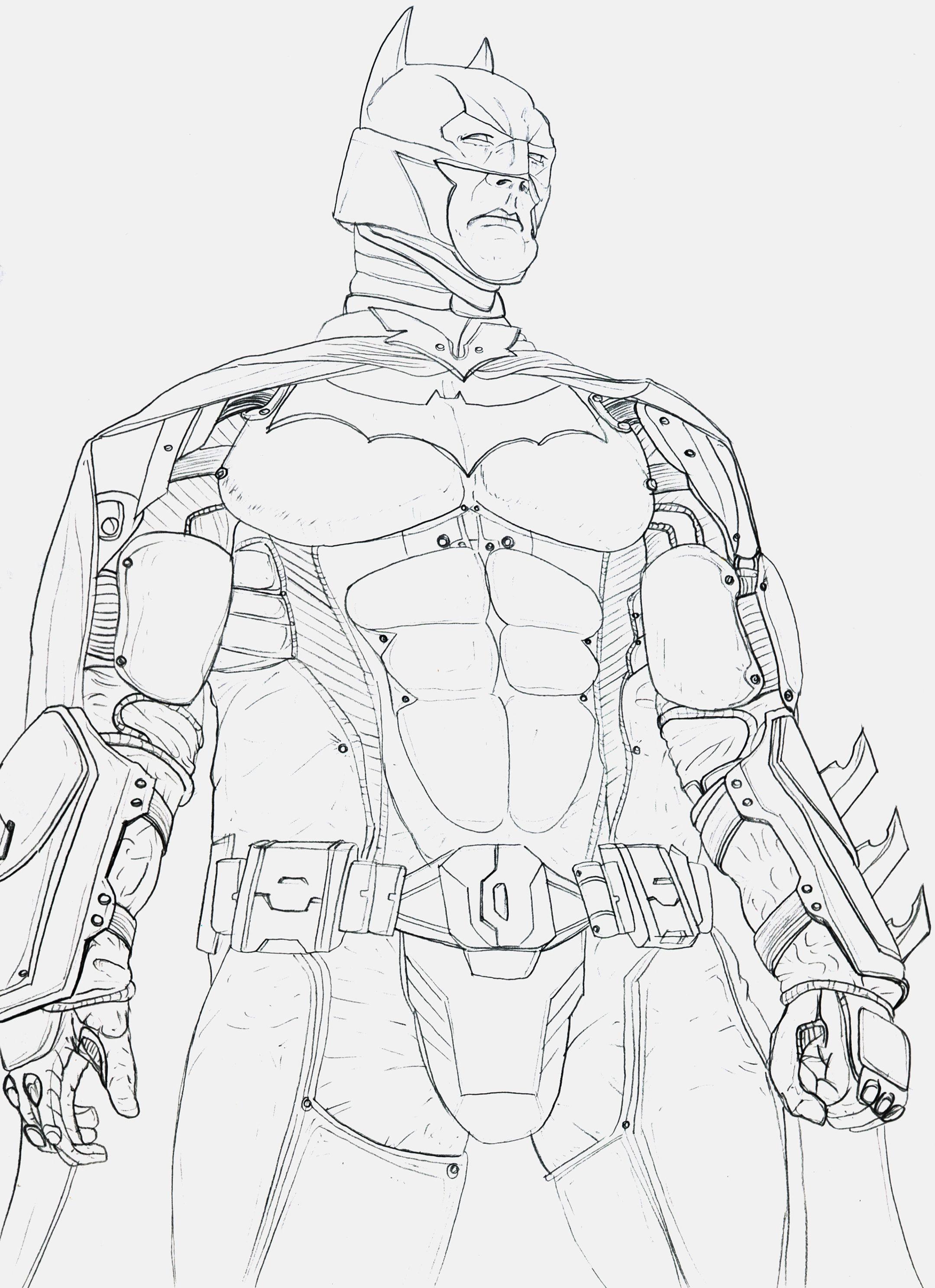 2159x2975 Batman Arkham Knight Sketches Drawings Batman Coloring Pages