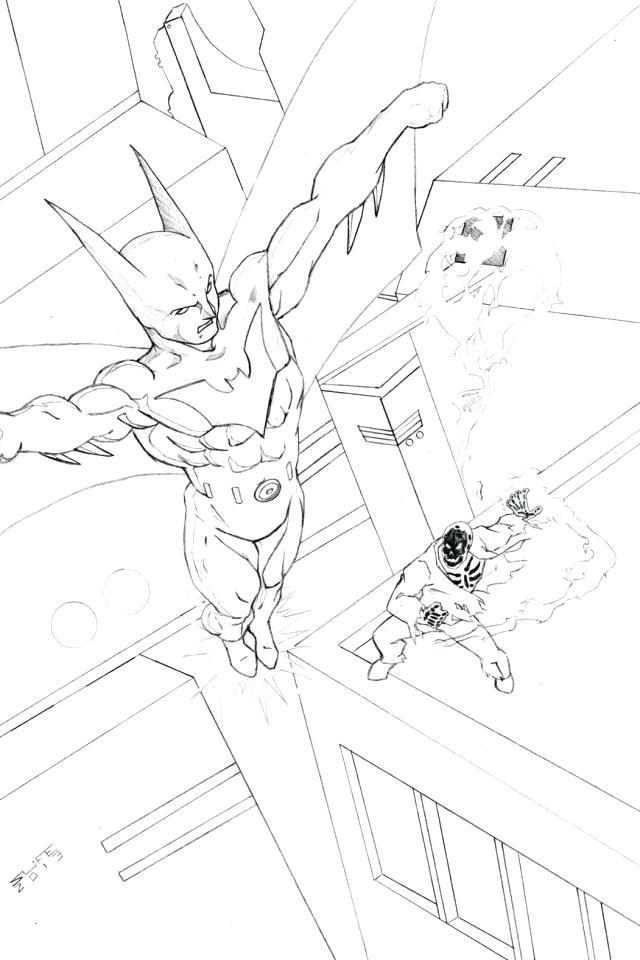 640x960 Magnificent Interesting Batman Beyond Coloring Pages New Kids