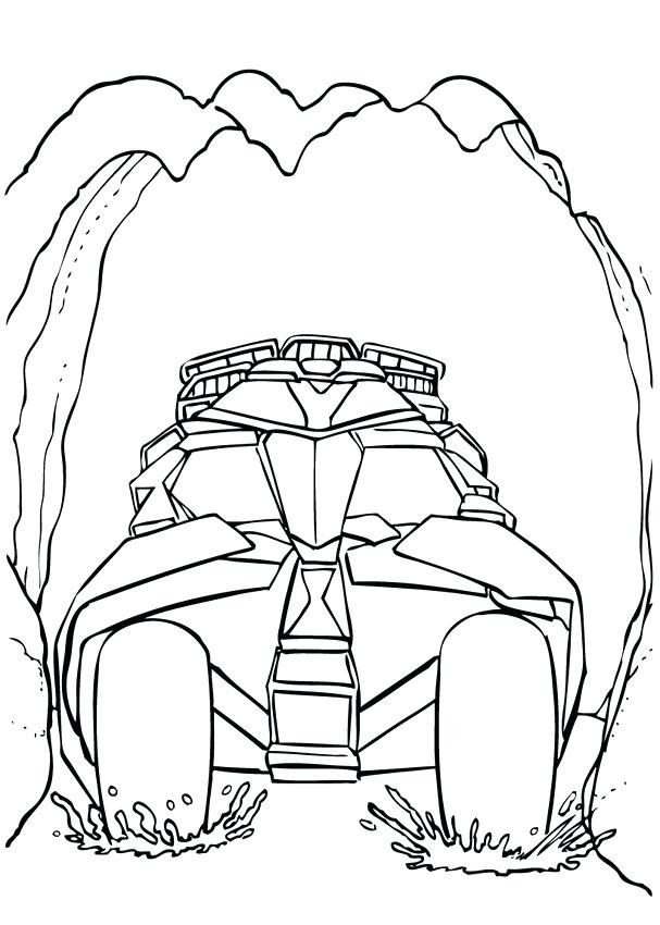 607x850 Batman Car Coloring Pages Four Wheel Drive Page Pictures