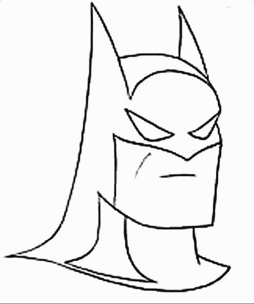 Batman Cartoon Coloring Pages
