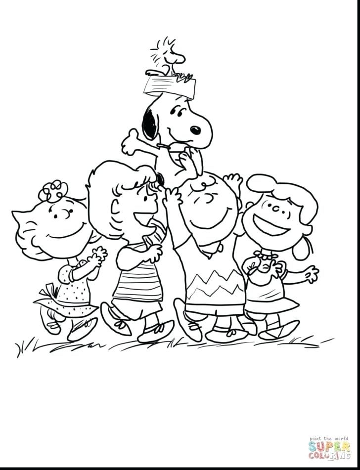 728x951 Charlie Brown Christmas Coloring Pictures Charlie Brown Coloring