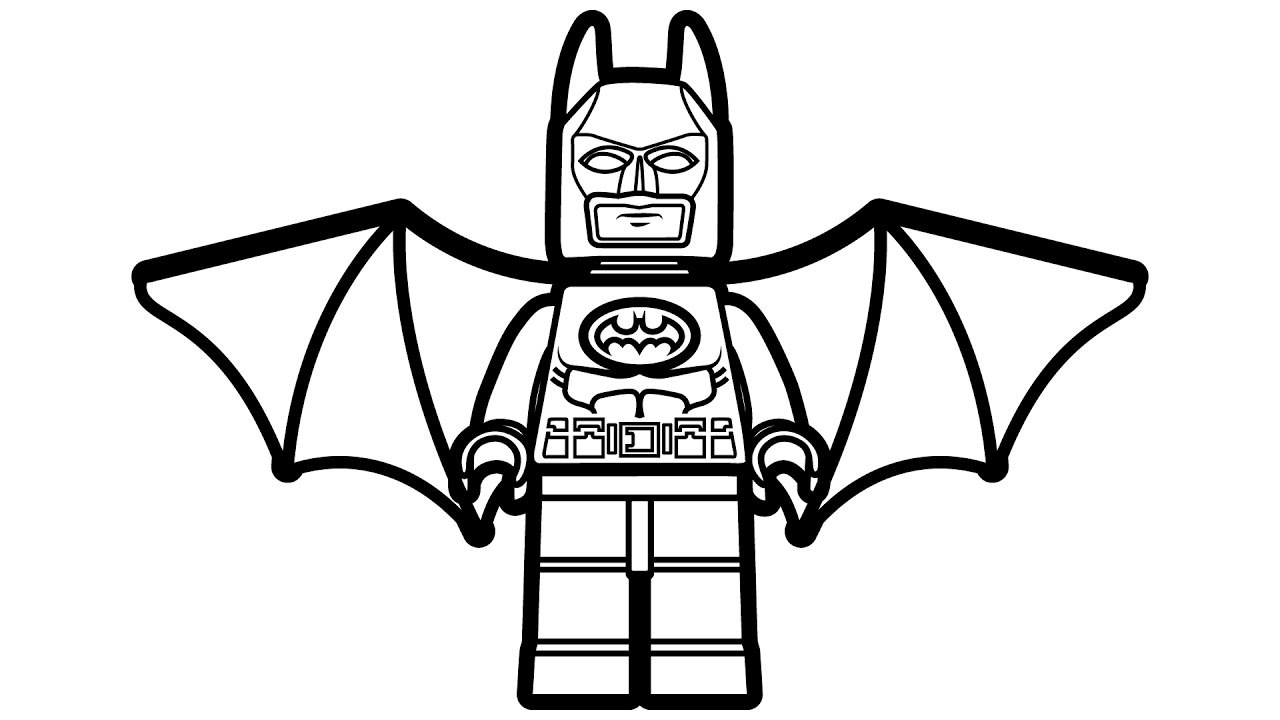 1280x720 Perfect Lego Batman Coloring Pages In Free Colouring With Color