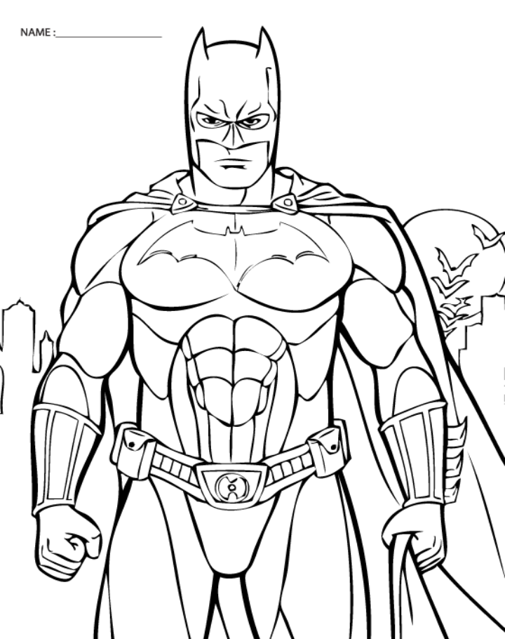 720x910 Free Printable Batman Coloring Pages Batman Free Coloring