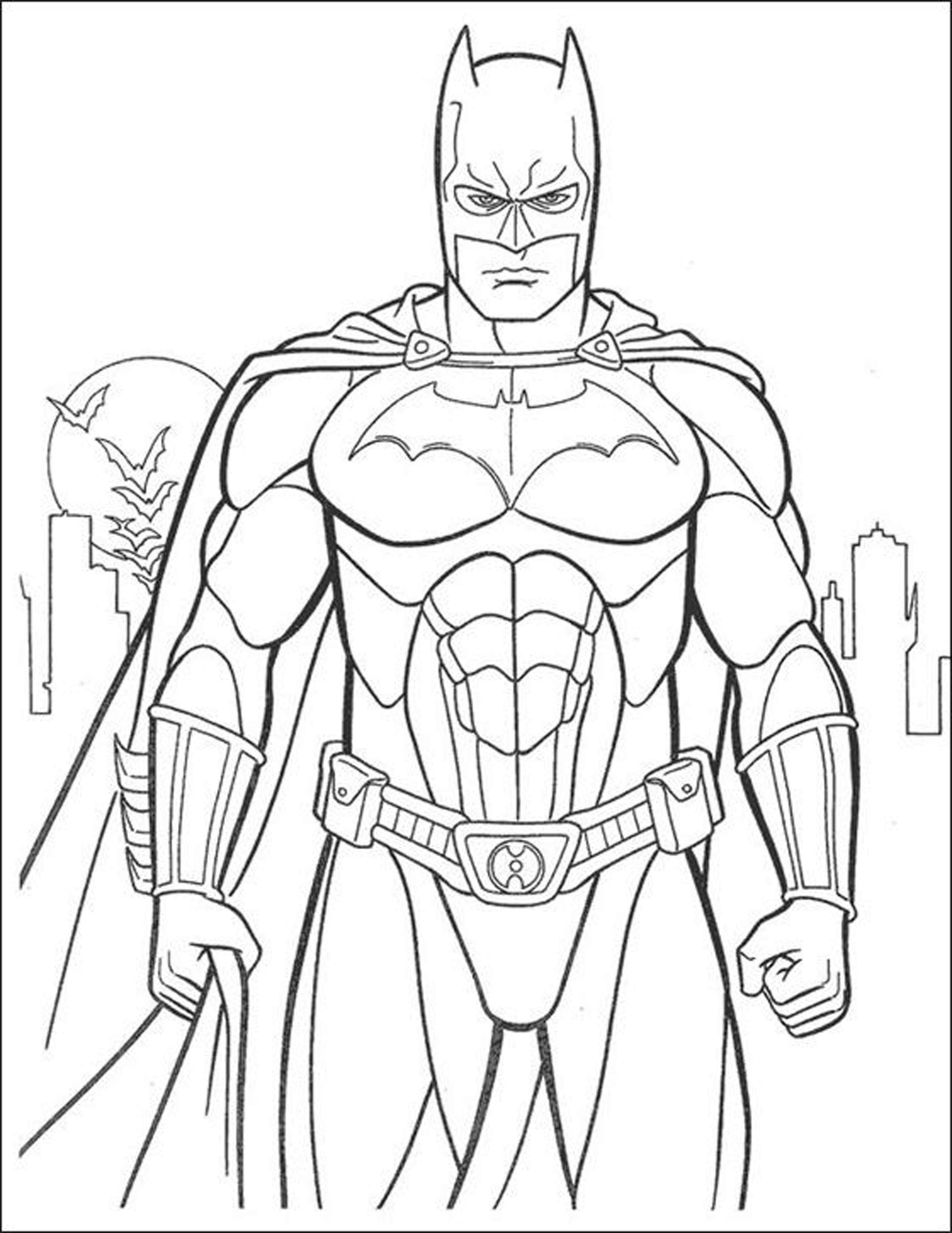 2550x3301 Batman Coloring Page Pages