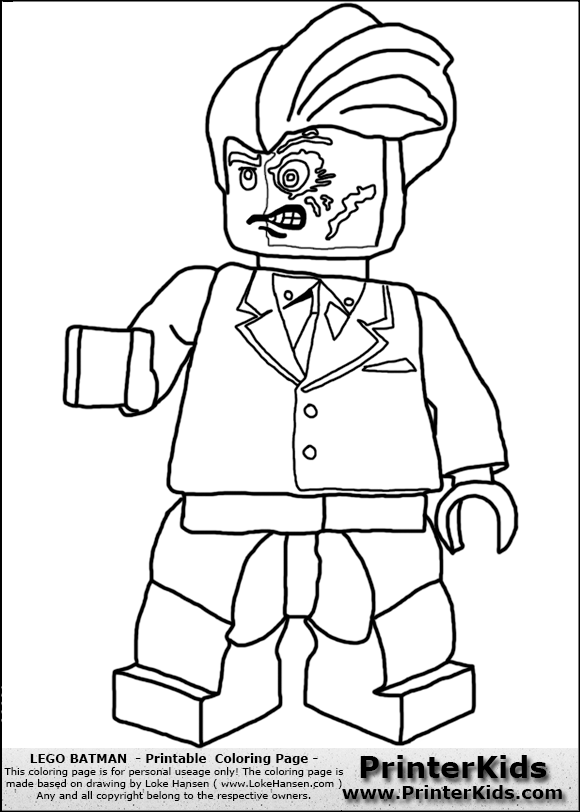 580x812 Lego Two Face Coloring Pages