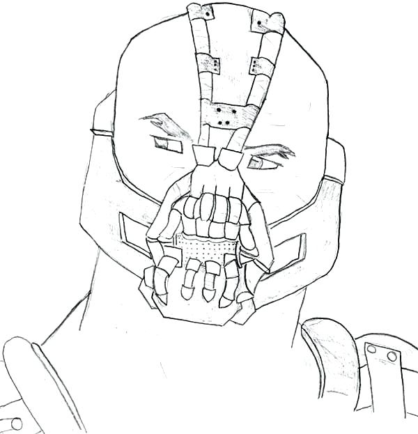 600x623 Batman Dark Knight Rises Coloring Pages Bane From The Best Place