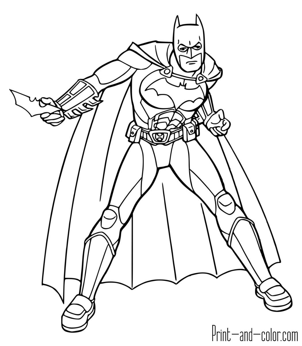 1050x1200 Batman Coloring Pages Print