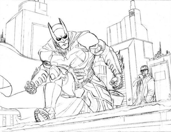600x463 Batman Coloring Pages Dark Knight