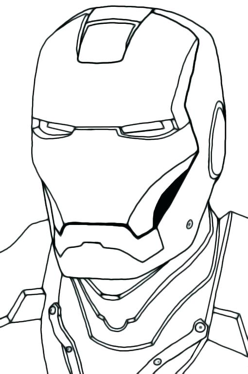 510x768 Iron Man Face Coloring Pages Batman Printable Coloring Pages Iron