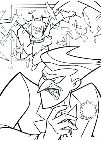 343x480 Joker Coloring Pages Click To See Printable Version Of Batman