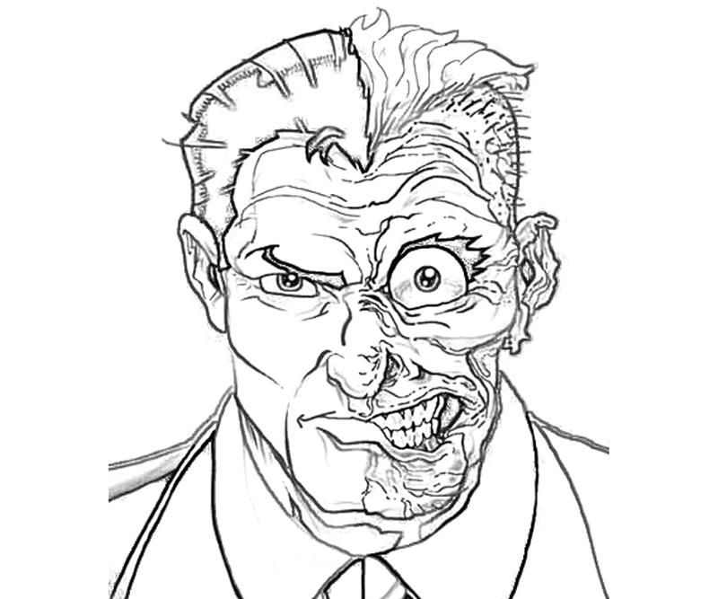 800x667 Two Face Coloring Pages