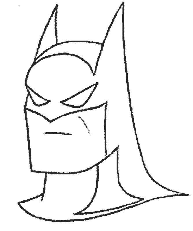 668x800 Batman Face Coloring Page Best Batman Cakes Images