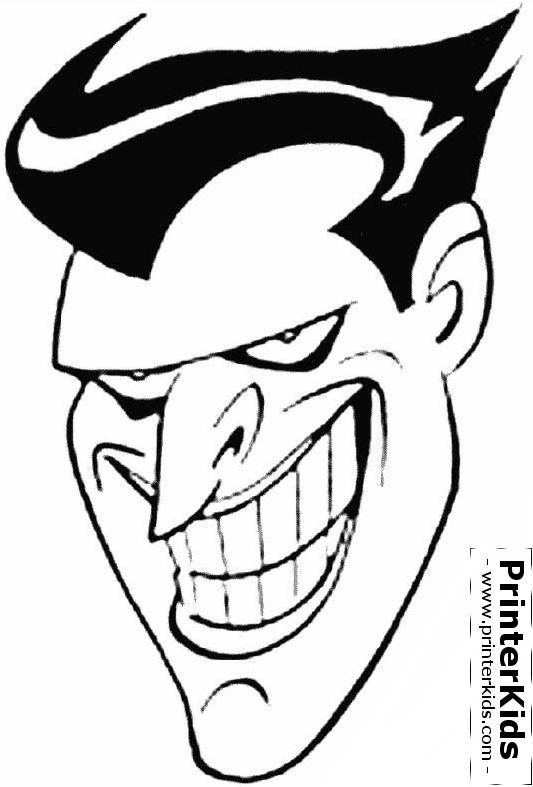 533x787 Batman Joker Face Coloring Page