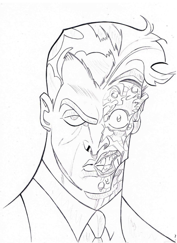 900x1240 Batman Two Face Coloring Pages
