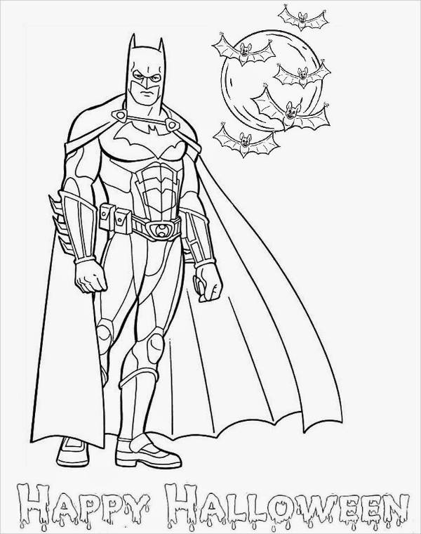 Batman Halloween Coloring Pages