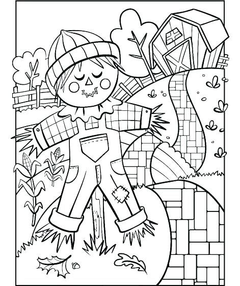 471x560 Scarecrow Coloring Pages Scarecrow Coloring Pages Scarecrow