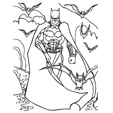 230x230 Batman Coloring Pages Free Printable For Kids