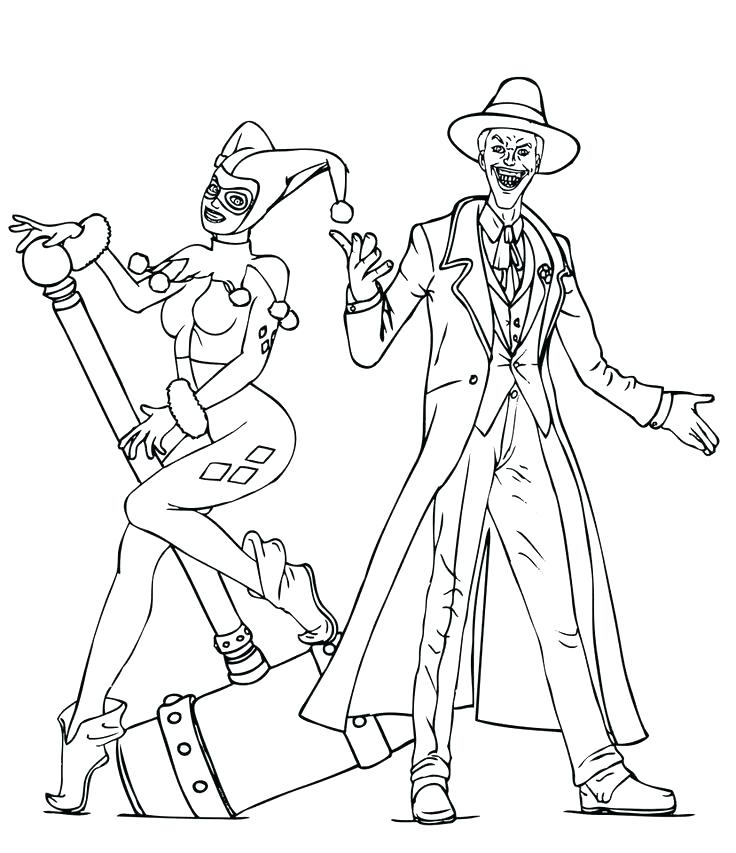 736x853 The Joker Coloring Pages Batman And Joker Coloring Pages Joker