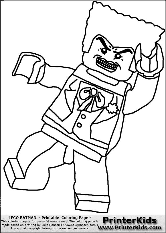 580x812 Color Pages For Batman's Villians Lego Lego Batman Joker