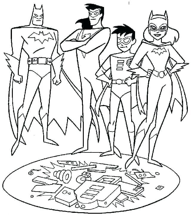 644x726 Batman And Joker Coloring Pages Free Printable Joker Coloring