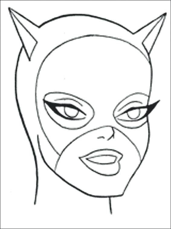 566x754 Catwoman Coloring Pages Mask Coloring Page Batman Vs Catwoman