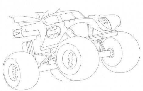 470x300 Batman Monster Truck Coloring Pages Stuff To Buy