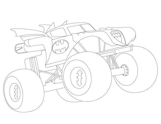 640x494 Batman Monster Truck Coloring Pages Truck New Ideas