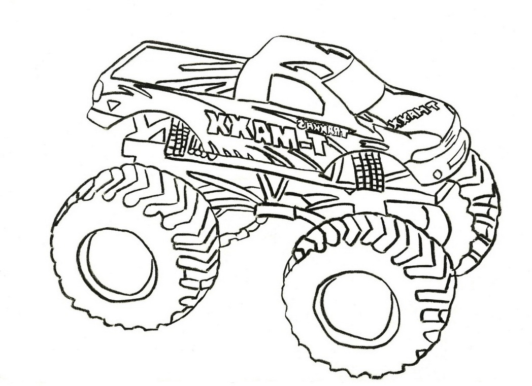 1048x761 Best Monster Trucks Coloring Sheets Free Printable