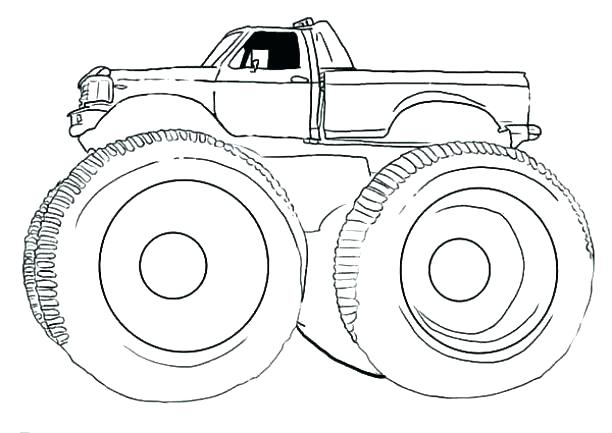612x433 Coloring Pages Draw A Monster Truck Batman Monster Truck Coloring