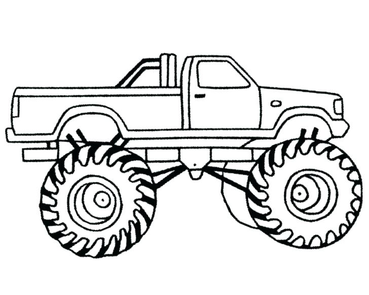 728x582 Monster Truck Color Page Big Monster Truck Coloring Pages As Well