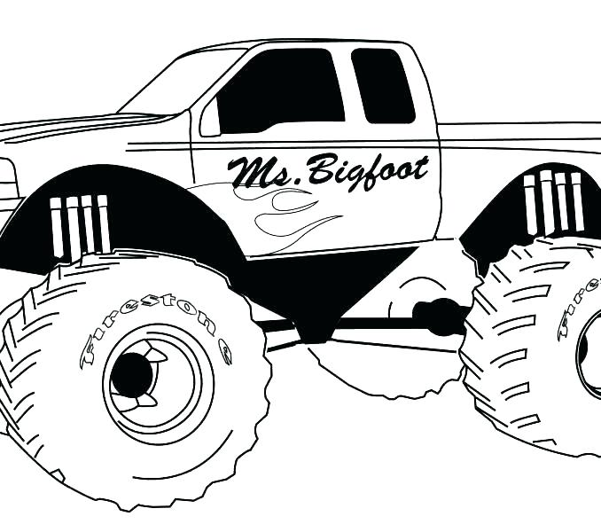 678x600 Monster Truck Coloring Pages Free Printable Monster Truck Coloring